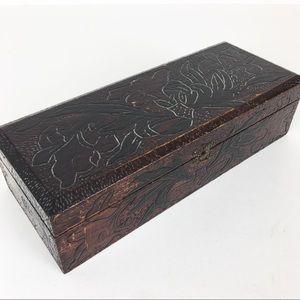 Antique Box Vanity Gloves Art Nouveau Dresser
